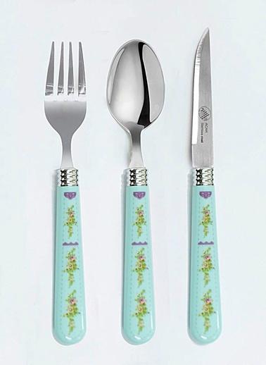 Dekoratif Saplı 3Prç Tatlı Çatal&Kaşık&Bıçak Set-Mizzy Home
